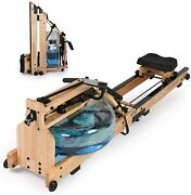 Foldable Water Rowing Machine Land Rower Home Cardio Training Workout Equipment