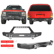 Textured Black Steel Front Bumper Or Rear Bumper For Jeep Cherokee Xj 1984-2001
