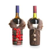 2021 Red Wine Bottle Cover Gift Bag Christmas Party Holiday Table Decorations