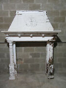 Antique Oak Fireplace Mantel Carved Eagle And Lions 64 X 87 Salvage