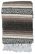 Mexican Blankets Brown/tan Traditional Throw Southwest Yoga Blanket