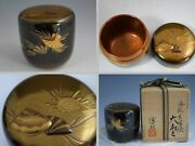 True Masterpiece O-natsume Tea Caddy Made By Top-notch Japanese Makie Artist 296