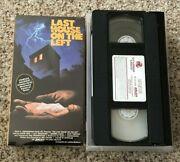 The Last House On The Left Vhs Vcr 1972 Vestron Not Sealed Ex Rental Horror