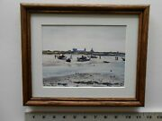 Aiden Lassell Ripley Boats On The Flats 8x10 Framed 3.0 517p