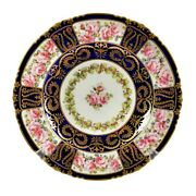 Royal Crown Derby Plate Pink Roses By A. Gregory 1899