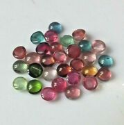 Natural Multi-color Tourmaline Gemstones Round Cab 7mm To 8mm With Aaa Quality