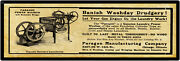 1912 Paragon Mfg. Metal Sign Gas Engine Driven Laundry Machine - Chicago Il