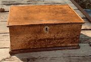 American Wormy Chestnut Antique Wood Bible Box Carpenters Tool Box Chest