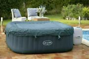 Saluspa 6 Person Inflatable Hot Tub Spa Jacuzzi With Cover +repair Patch