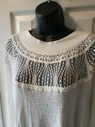 Woman's Anthropologie Free People Long Sleeve Lace Tunic Shirt Size S Nice