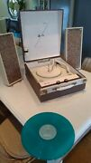Vtg Record Player Arvin Stereo Tube Fully Restored Works Great Watch It Play