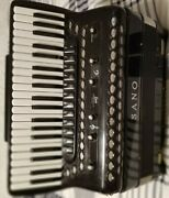 Accordion Sano Sterio 30 C Hand Made Reeds Double Tone Chamber Good Condition
