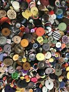 Buttons 700 Vintage Assorted Sizes Huge Lot Colors Bulk Lot Sewing Crafts New