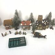 Dept 56 Heritage Village Collection Dickens Christmas Village Lot Nice