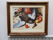 Aiden Lassell Ripley Black Duck With Apples 8x10 Framed 2.1 508