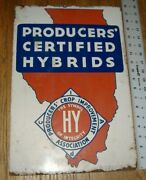Producers Crop Improvement Association Certified Hybrids Seed Sign Illinois Il