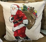 Nwt Pottery Barn Painted Santa Pillow Cover Holiday Christmas Sold Out