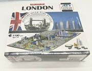 4d Cityscape Jigsaw Puzzle - London City Map With Time Layer 1100 Pieces New