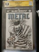 Dark Nights Metal 1 Signed And Sketch By Neal Adams 9.8 Cgc Amazing