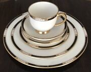 48pc Lenox Presidential Collection Hancock Gold Dinnerware Service For Eight