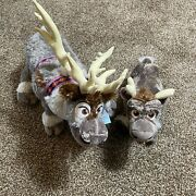 New Frozen 2 Large Sven And Baby Sven Exclusive Reindeer Plush 17andrsquo Build A Bear