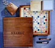 New In Box Rare Vintage Wooden Edition Scrabble Crossword Game Still Wrapped