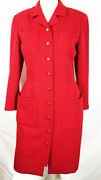 Fab Vintage Lipstick Red Pencil Dress 4 Pocket Cc Buttons Collection 29