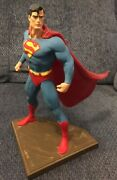 Rare One Of A Kind Superman Statue Sculpted By Randy Bowen Dc Comics 10 1/2 Tall