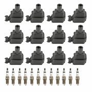 Bosch 12 Ignition Coils And 12 Platinum Spark Plugs Kit For Mercedes W140 R129