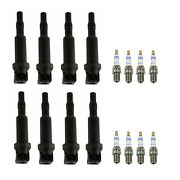 Bosch 8 Ignition Coils And 8 Platinum Spark Plugs .024 Kit For Bmw E65
