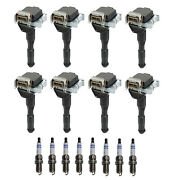 Bosch 8 Ignition Coil And 8 Double Iridium Spark Plugs Kit For Bmw E34 E32