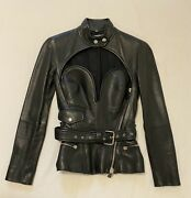 Jean Paul Gaultier Bustier Leather Jacket New With Tags Rare Opening Ceremony