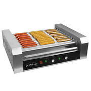 Partyhut Commercial Hotdog Machine 11 Roller And 30 Hot Dog Grill Cooker Warmer