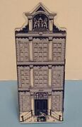 Vintage Delft Blue Hand Painted 7.25 Ceramic Coin Bank House