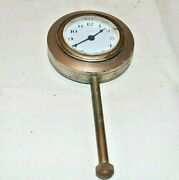 Vintage Waltham Car Clock-5 3/4 Long-pre 1930and039s ---bottom Knob Turns The Hands