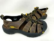 Keen Menand039s Newport Fishermanand039s Leather Rugged Sandals Brown 1001870 79p Z
