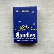 Vintage12 Per Box White 4 Candles For Swedish Angel Chimes-christmas Decoration