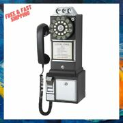 Home Wall Mount Classic Rotary Pay Phone Old Fashioned Vintage-design Telephone