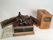Nice Stanley No. 55 Universal Combination Plane W/ 52 Boxed Cutters And Box