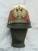 Rare Pre Wwi Military Officers Austria Hungary Shako Hat With Imperial Eagle