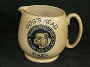 Antique Dogs Head Bottling Bass Ale Beer Guinness Stout Stoneware Pitcher Mug