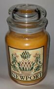 Yankee Candle Newport Pineapple 22 Oz Jar Rare Hard To Find Scent Only 1 Listed