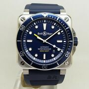 [unused] Bell And Ross Diver Blue Automatic Steel Menand039s Watch Br0392-d-bu-st/srb