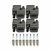 Bosch 4 Ignition Coil And 8 Platinum Spark Plugs Kit For Mercedes R129 5.0l V8 Rwd