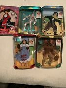 Lot Of 5 Vng Wizard Of Oz Barbie Doll Popping Dorothy Ken Tin Lion Scarecrow