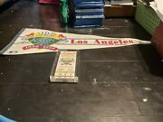 100 Anniversary Dodgers 1890 Nl 1990 Pennent And Opening Day Dodgers Ticket 1890
