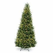 Pre-lit Artificial Christmas Tree | Includes Pre-strung White Lights And