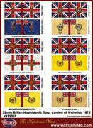 Victrix Historical Napol Flag Sheet - British Napoleonic Flags Carried A New