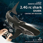 Remote Control Shark With Headlights Electric Rc Shark Pool Toys For Kids