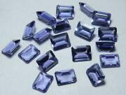 Amazing Lot Natural Iolite 9x11mm To 10x14mm Octagon Faceted Cut Loose Gemstones